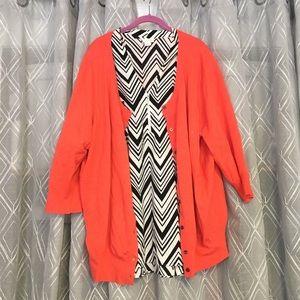 🌈3 FOR $30-Zippered chevron print blouse